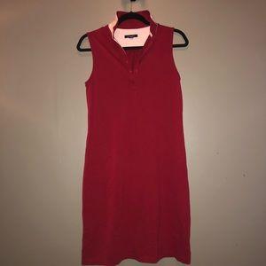 Collared Sleeveless Tank Tennis Dress